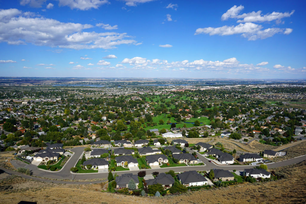 Tri-Cities Washington area view from high vantage point